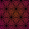 Seamless indian pattern in red and black colore Stock Photo