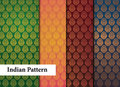 Seamless Indian Patterns Stock Photography