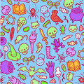 Seamless infinite background with Halloween stuff