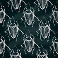 Seamless insects pattern. Decorative bugs background. Royalty Free Stock Photo