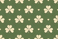 Seamless irish green pattern with clover and heart Royalty Free Stock Photo