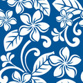 Seamless island plumeria pattern illustration of a hawaiian print tile tile can be dragged and dropped into illustrator s swatches Stock Photos