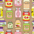 Seamless jam pattern Stock Images