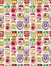 Seamless jam pattern Royalty Free Stock Images
