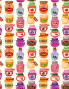 Seamless jam pattern Stock Image