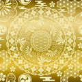 Seamless japanese modern gold background Royalty Free Stock Photo