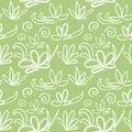 Seamless japanese pattern on light olive background Royalty Free Stock Photo