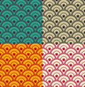 Seamless japanese waves pattern vector eps in different colors suitable for web print wallpaper gift wrapping home decor fashion Royalty Free Stock Photo