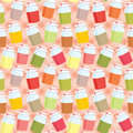 Seamless jars with jem pattern Royalty Free Stock Photography