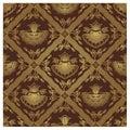 Seamless Javanese Batik Pattern - Floral Stock Photography