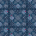 Seamless jeans patchwork pattern denim background Stock Photography