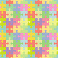 Seamless jigsaw puzzle pattern Royalty Free Stock Photo