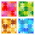 Seamless jigsaw puzzle patterns Stock Images