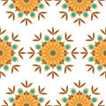 Seamless kaleidoscope floral  repeat background Royalty Free Stock Photos