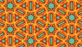 Seamless Kaleidoscope Pattern Royalty Free Stock Image