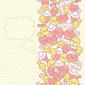 Seamless kawaii pattern with cute cakes