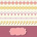 Seamless kawaii pattern with cute cakes