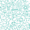 Seamless Kid Pattern Stock Photo