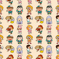Seamless kid pattern Royalty Free Stock Photo