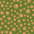 Animal footprint seamless pattern.
