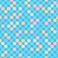 Seamless kids pattern in pastel colors