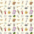 Seamless Kitchen pattern Stock Images