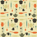 Seamless kitchen pattern Royalty Free Stock Photography