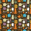 Seamless kitchen pattern Royalty Free Stock Photo
