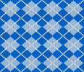 Seamless knitted argyle sweater background Royalty Free Stock Photo