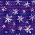 Seamless knitted background Royalty Free Stock Photography