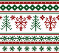 Seamless knitted christmas pattern Stock Photography