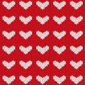 Seamless knitted heart Royalty Free Stock Photos
