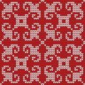 Seamless knitted pattern this is file of eps format Stock Images