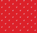 Seamless knitting pattern with hearts saint valentine s day Royalty Free Stock Image