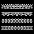 Seamless lace borders Stock Image