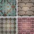 Seamless lace patterns on grunge texture