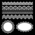 Seamless lace set Royalty Free Stock Images