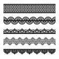 Seamless lace set Royalty Free Stock Image