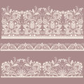 Seamless lace set. Royalty Free Stock Images