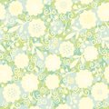 Seamless laced floral pattern summer Stock Photography