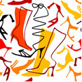 Seamless ladies shoes pattern Royalty Free Stock Photography