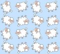Seamless lamb pattern Stock Photography