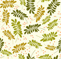 Seamless leaves pattern Royalty Free Stock Photo
