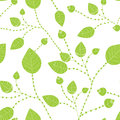 Seamless leaves pattern in green colors Royalty Free Stock Photos