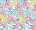 Seamless leaves pattern.