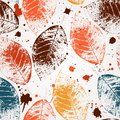 Seamless leaves wallpaper Stock Photos