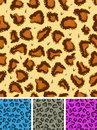 Seamless leopard or cheetah fur background illustration of a set of wild african wallpaper Royalty Free Stock Image