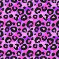 stock image of  Seamless leopard pattern, endless background. animal print. illustration