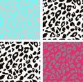 Seamless leopard print pattern. Leopard fur