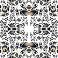Seamless Leopard Spots Pattern.